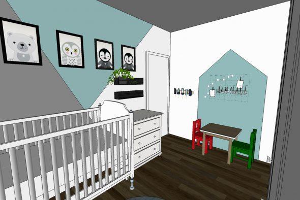 עיצוב חדר ילדים.