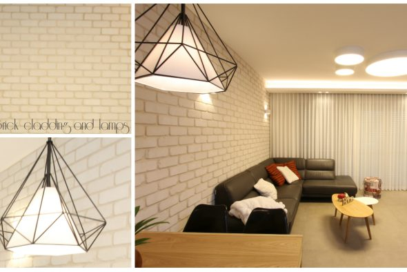 Brick cladding and lamps