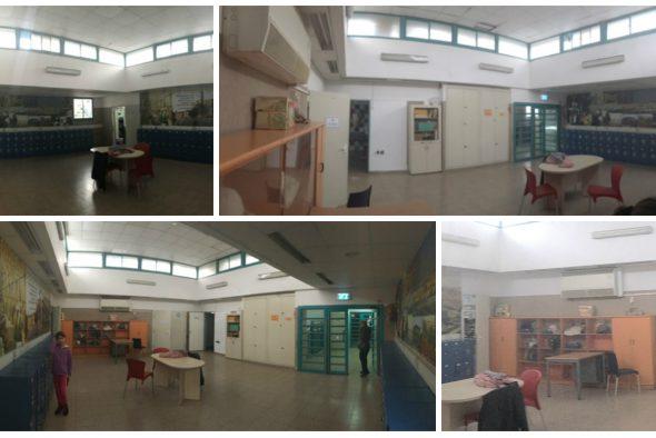 לפני:ככה נראתה מבואת הכיתות.