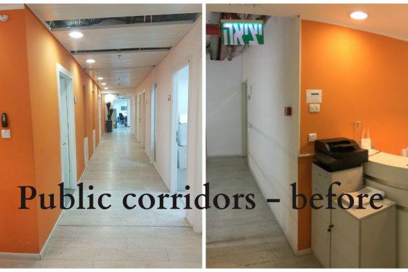Public corridors - before