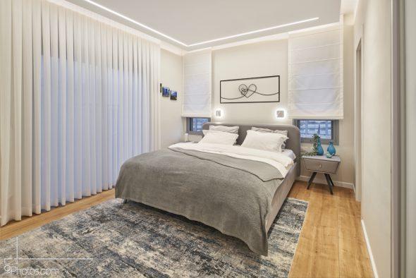יצירת אוירה רגועה ונעימה בחדר שינה הורים.